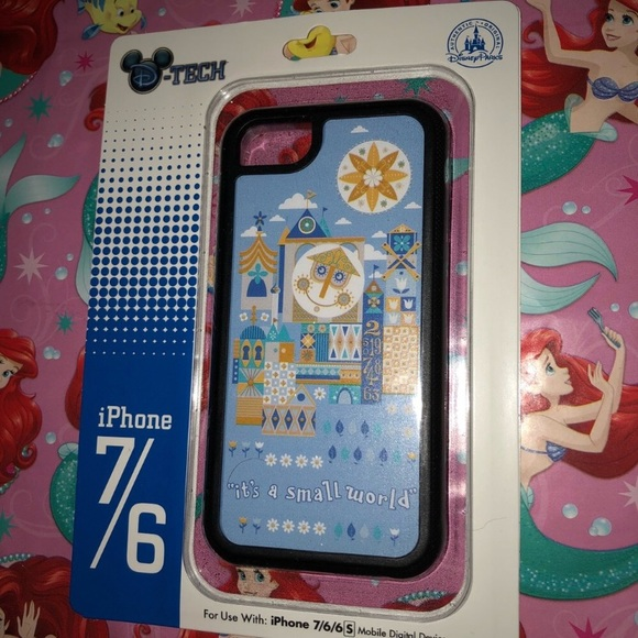 the latest ac414 12153 Disney Parks it's a small world iPhone case